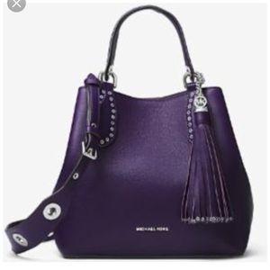 Rare! MK Purple Medium Brooklyn Bag